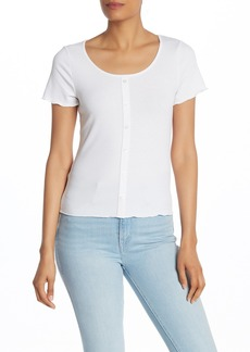 Laundry by Shelli Segal Faux Button Front Top