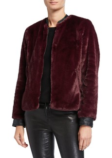 Laundry by Shelli Segal Faux Fur Bomber Jacket