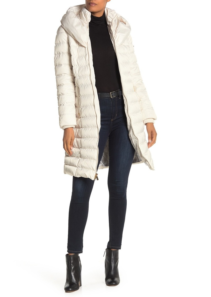Laundry by Shelli Segal Faux Fur Pocket Lined Quilted Puffer Coat