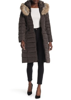 Laundry by Shelli Segal Faux Fur Trimmed Hooded Puffer Coat