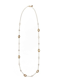 Laundry by Shelli Segal Faux Pearl & Link Station Necklace