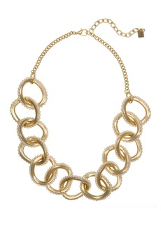 Laundry by Shelli Segal Faux Pearl Bead Link Collar Necklace