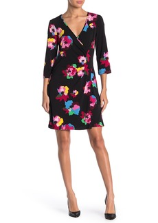 Laundry by Shelli Segal Faux Wrap Jersey Dress