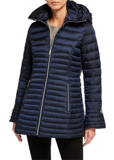 Laundry by Shelli Segal Fit-&-Flare Puffer Coat
