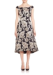 Laundry by Shelli Segal Flared Brocade Dress