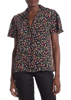Laundry by Shelli Segal Flavia Floral Printed Camp Shirt