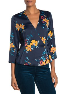 Laundry by Shelli Segal Floral 3/4 Sleeve Blouse