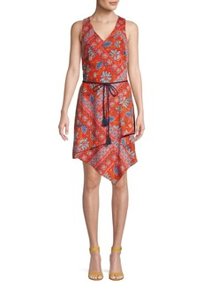 Laundry by Shelli Segal Floral Asymmetrical Dress