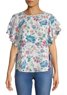 Laundry by Shelli Segal Floral Flutter Top