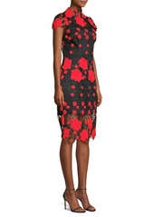 Laundry by Shelli Segal Floral High-Neck Sheath Dress