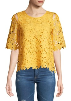 Laundry by Shelli Segal Floral Lace Blouse