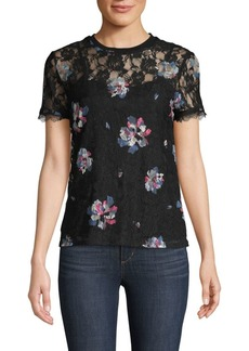 Laundry by Shelli Segal Floral Lace Tee
