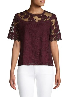 Laundry by Shelli Segal Floral Lace Top