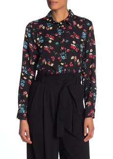Laundry by Shelli Segal Floral Long Sleeve Blouse