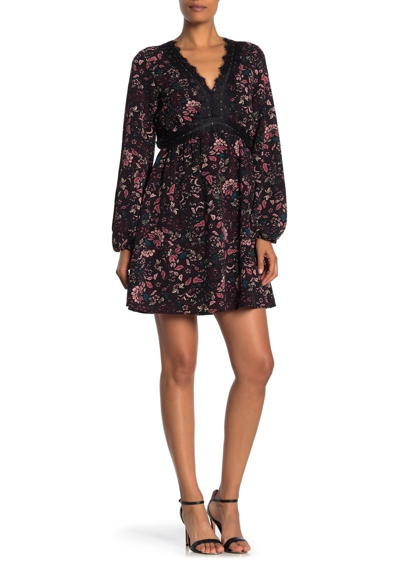 Laundry by Shelli Segal Floral Long Sleeve Flared Dress