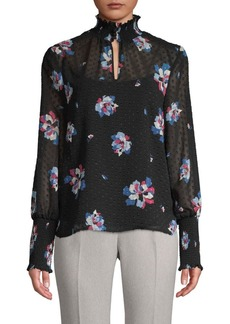 Laundry by Shelli Segal Floral Mesh Blouse