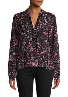 Laundry by Shelli Segal Floral-Print Grommet Top
