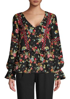 Laundry by Shelli Segal Floral V-Neck Top