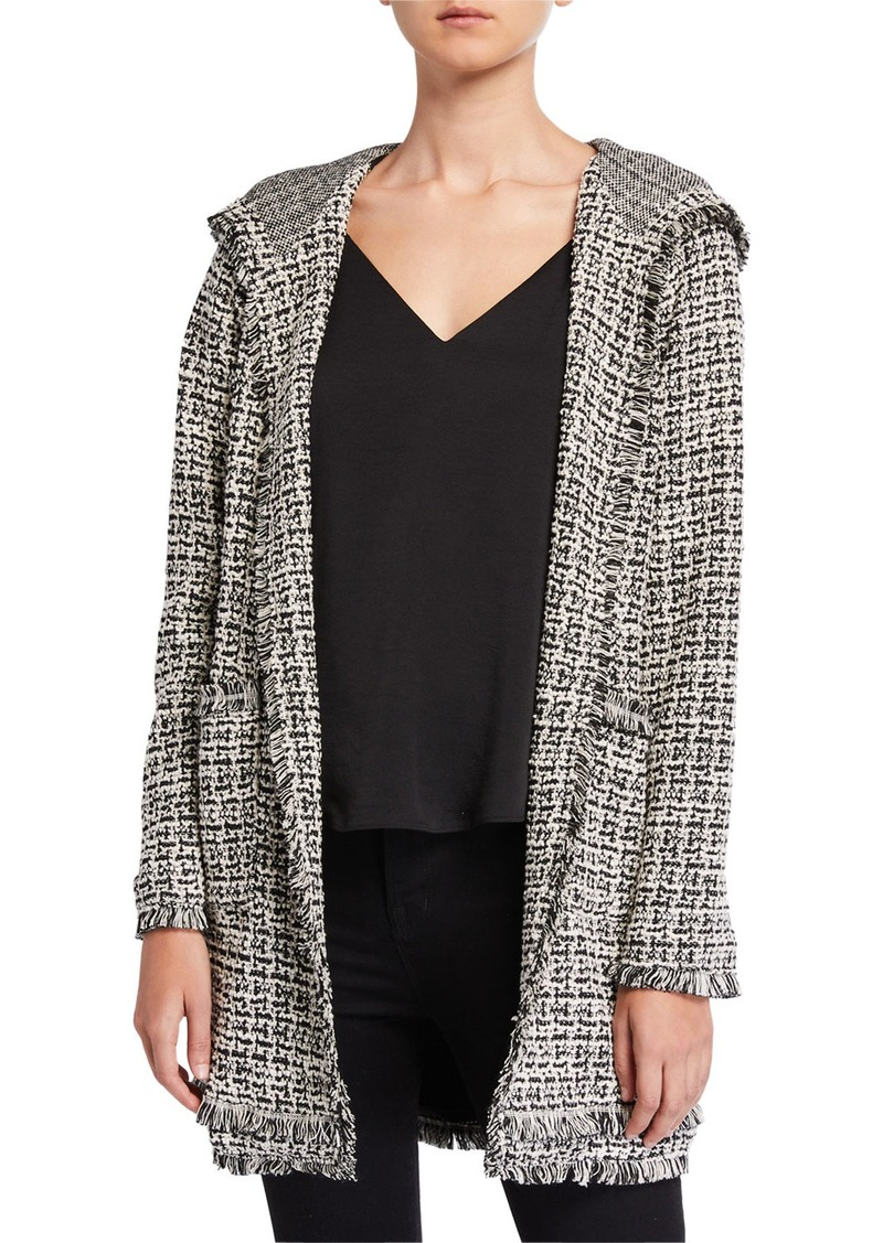 Laundry by Shelli Segal Fringe Boucle Jacket