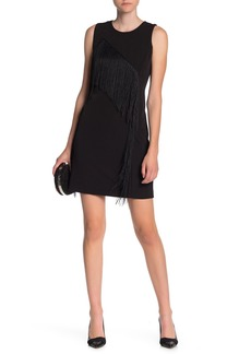 Laundry by Shelli Segal Fringed Shift Dress