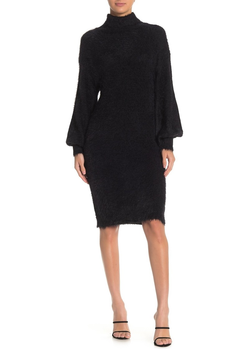 Laundry by Shelli Segal Fuzzy Wuzzy Long Sleeve Sweater Dress