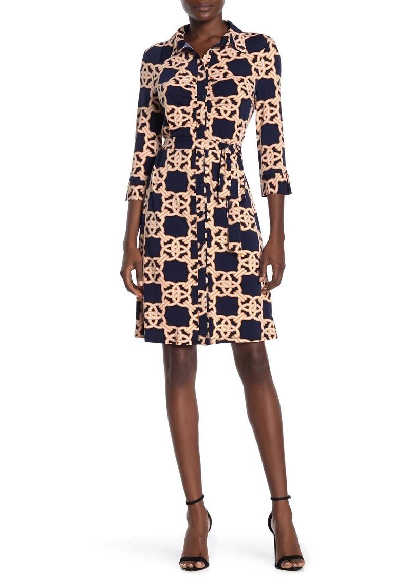 Laundry by Shelli Segal Geo Printed Jersey Knit Dress
