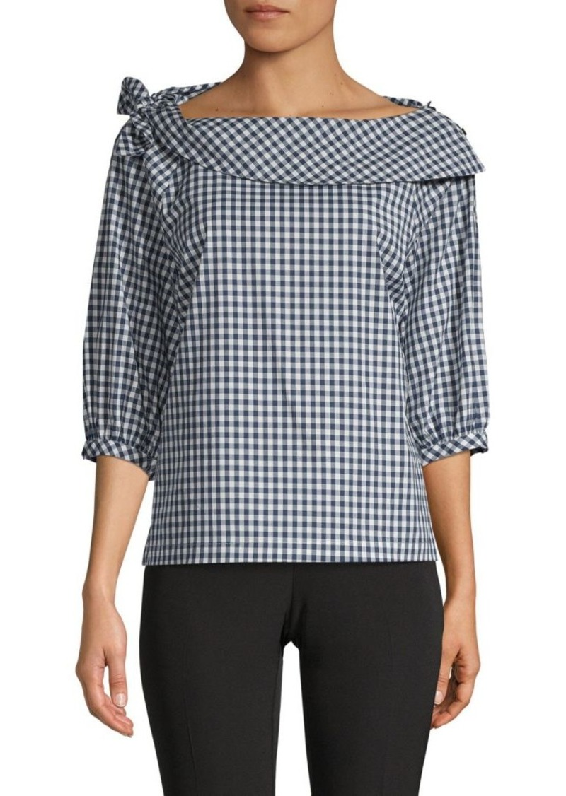 Laundry by Shelli Segal Gingham Boatneck Blouse