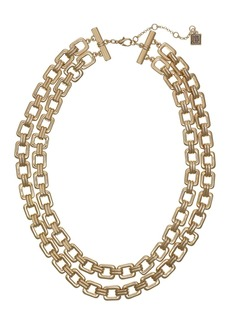 Laundry by Shelli Segal Gold-Tone 2 Row Chain Necklace