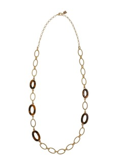 Laundry by Shelli Segal Gold-Tone Necklace with Oval Tortoise Rings