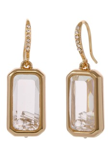 Laundry by Shelli Segal Gold-Tone Square Drop Earrings