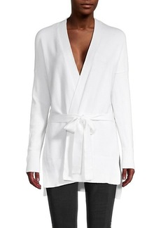 Laundry by Shelli Segal High-Low Belted Cardigan