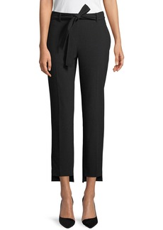 Laundry by Shelli Segal High-Waist Skinny Crepe Pants