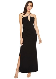 Laundry by Shelli Segal Jersey Crisscross Front Gown