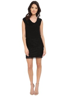 Laundry by Shelli Segal Lace and Matte Jersey Sleeveless Blouson