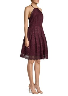 Laundry by Shelli Segal Lace Halter Dress