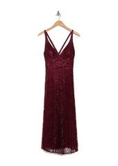 Laundry by Shelli Segal Lace Pleated Midi Dress