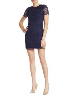 Laundry by Shelli Segal Lace Short Sleeve Mini Dress
