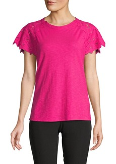 Laundry by Shelli Segal Lace Sleeve Tee