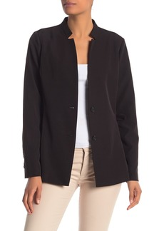 Laundry by Shelli Segal Lace-Up Solid Blazer Jacket