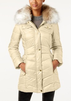 Laundry by Design Faux-Fur-Trim Hooded Puffer Coat