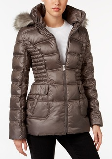 Laundry by Design Faux-Fur-Trim Quilted Puffer Coat
