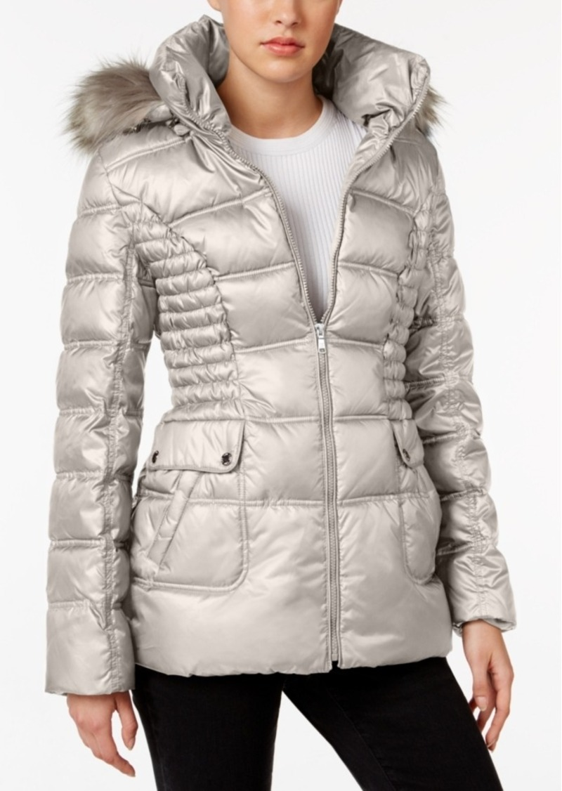 206baa0fd48e Laundry by Design Faux-Fur-Trim Quilted Puffer Coat. Laundry by Shelli Segal