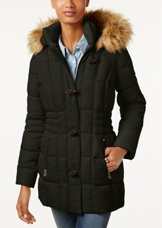 Laundry by Shelli Segal Laundry by Design Faux-Fur-Trim Toggle Puffer Coat