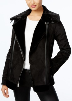 Laundry By Design Faux-Shearling Moto Coat