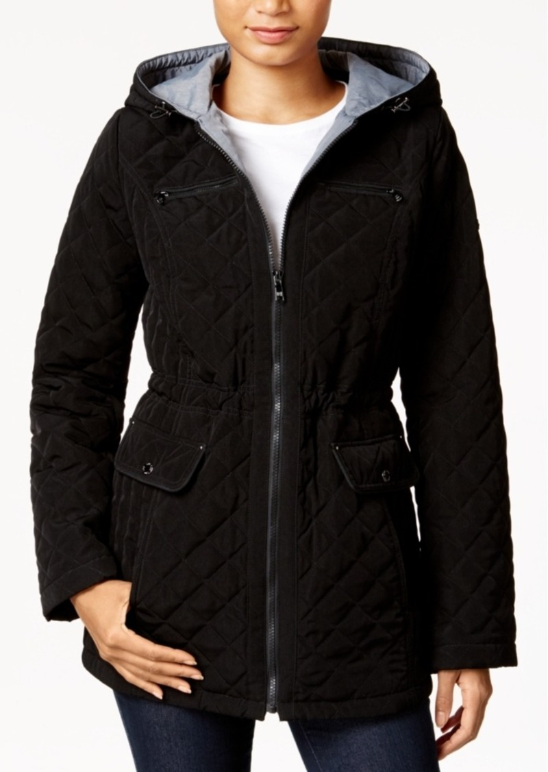 Laundry By Shelli Segal Laundry By Design Hooded Quilted Anorak