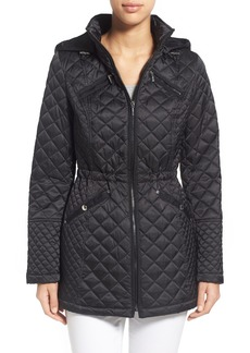 Laundry by Design Hooded Quilted Coat