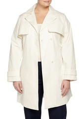Laundry by Shelli Segal Laundry by Design Plus Belted Lace-Back Trenchcoat