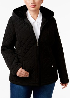 Laundry by Design Plus Size Faux-Fur-Lined Hooded Quilted Jacket