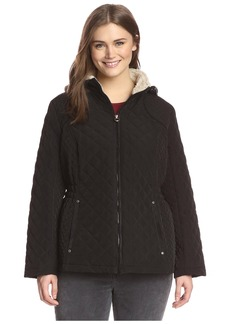 Laundry by Design Plus Women's Quilted Jacket with Plush Trim