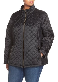 Laundry By Design Quilted Jacket with Detachable Hood (Plus Size)